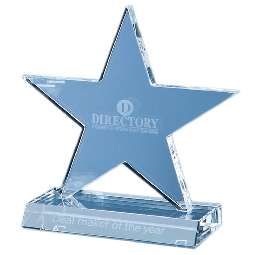 CRYSTAL 5 POINTED STAR AWARD