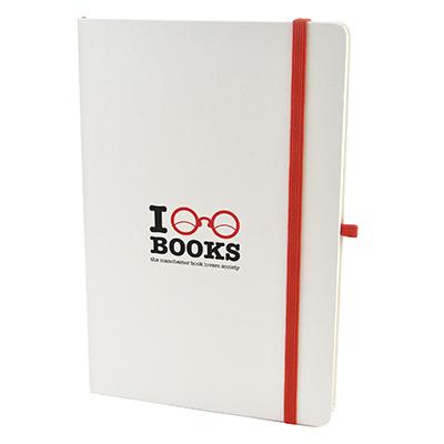 A5 White Hard Back Notepad