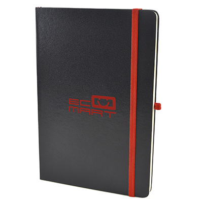 A5 BLACK HARD BACK NOTEPAD