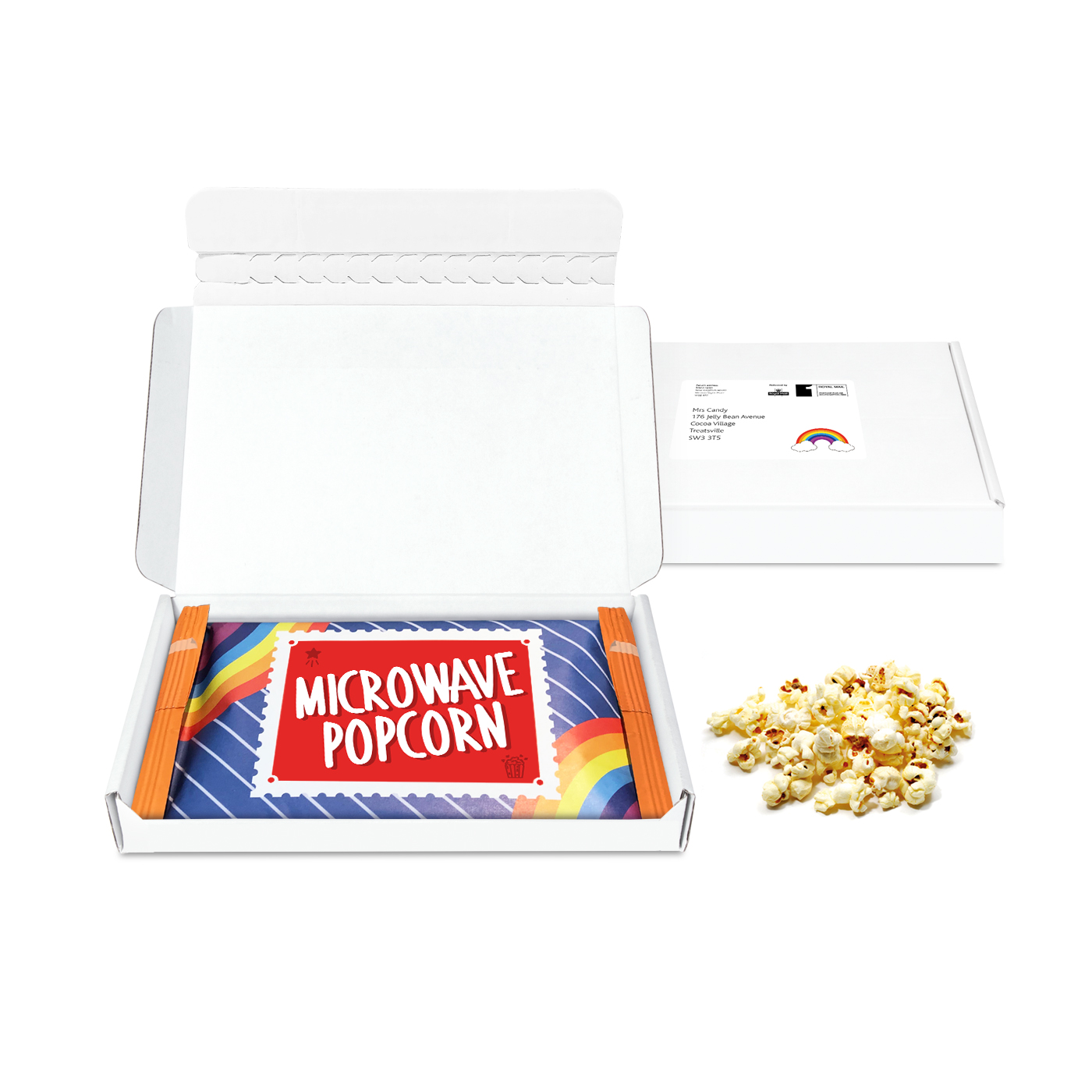 MINI POSTAL BOX - MICROWAVE POPCORN