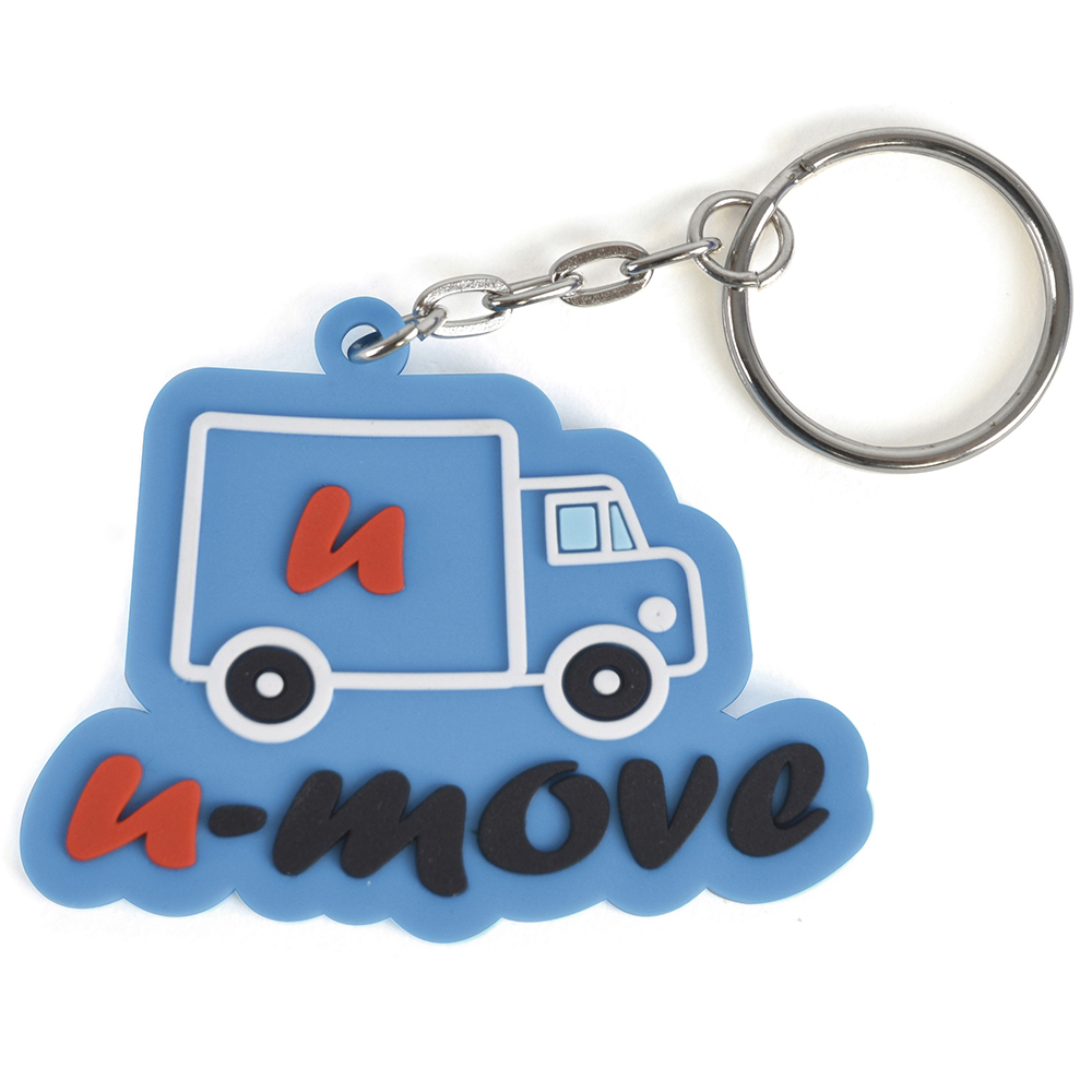 medium PVC bespoke keyring - 60 x 60mm